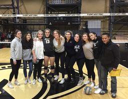 Volleyball and Veterans at West Point: Vikings visit USMA Cadet Cara Shattan '17