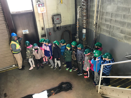 Grade 2 explores water treatment and conservation during hands-on field trip