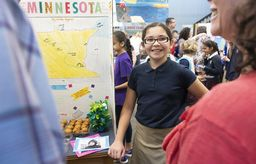 Grade 4 takes visitors on a trip across the country at the Annual State Fair
