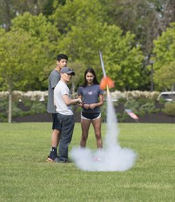 Grade 8 shoots for the stars in the Annual Rocket Launch