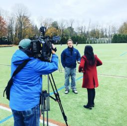 King Head Athletic Trainer, Jason Bouton, and Vikings Girls Soccer Featured on FOX 5 New York