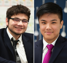 Harry Amadeo '20 and Alex Lim '21 reach for the stars (literally) in the 2019-2020 ASPIRE program