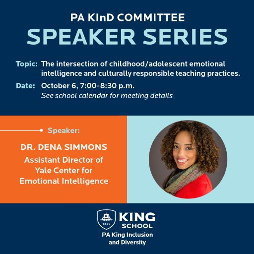10/6: PA KInD Speaker Series: Dena Simmons