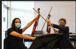 Middle School students learn to play multiple instruments in King string ensemble program