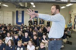 New York Times best selling author Adam Gidwitz visited Grades 2-5