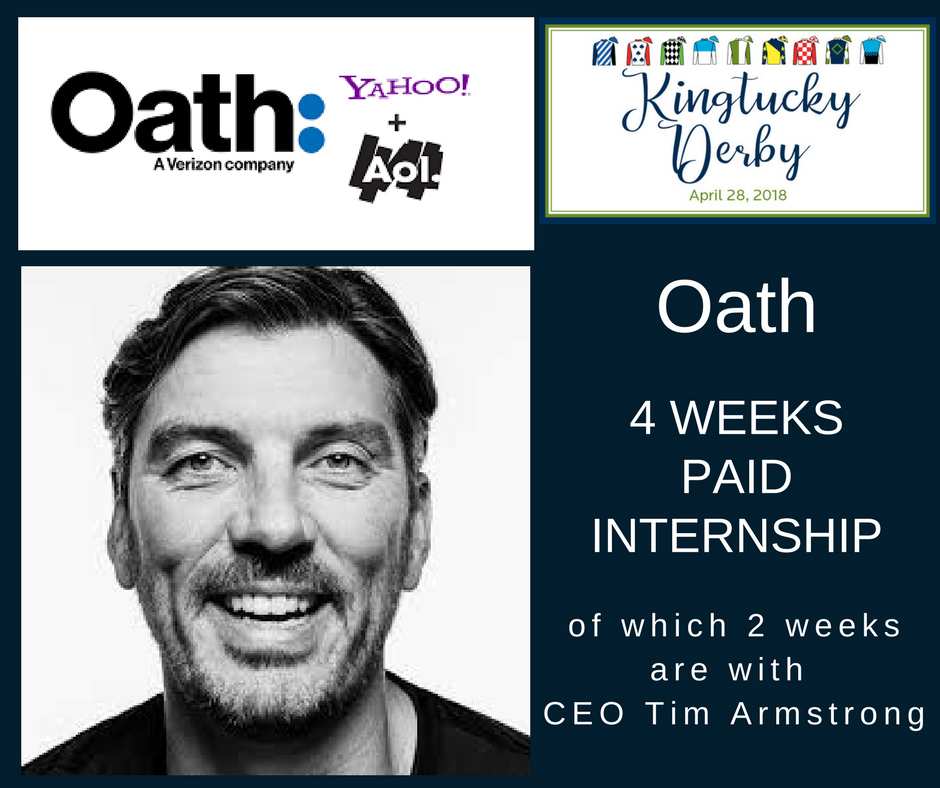 Oath Internship includes shadowing the company's CEO, Tim Armstrong